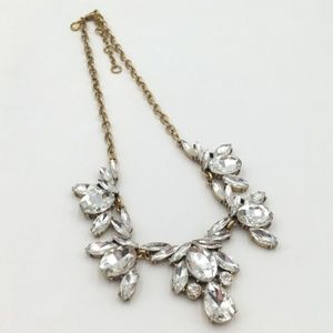 Nwt J Crew Statement clear necklace